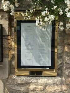 Old Parsonage menu